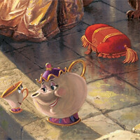 Mrs. Potts, Chip, & the Footstool