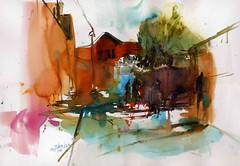 Daily life (Behzad Bagheri) Tags: life city light urban sunshine architecture watercolor day aquarelle expressive acuarela isfahan acquerello behzadbagheri