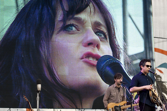 She & Him at Treasure Island Music Festival by Carl Pocket
