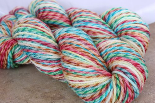 ~Jingle Bell Rock~ Twisty Merino <br> <b>New Colourway