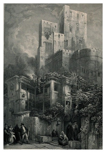 005-La torre Bermellon-Tourist in Spain-Granada-1835-David Roberts
