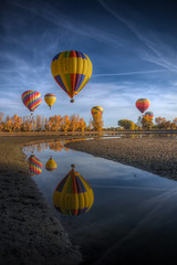 2010 Hot Air Balloon 305 (TVGuy) Tags: autumn hot reflection water colorado air balloon boulder theperfectphotographer