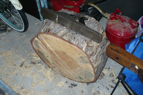 turning chunk of pine