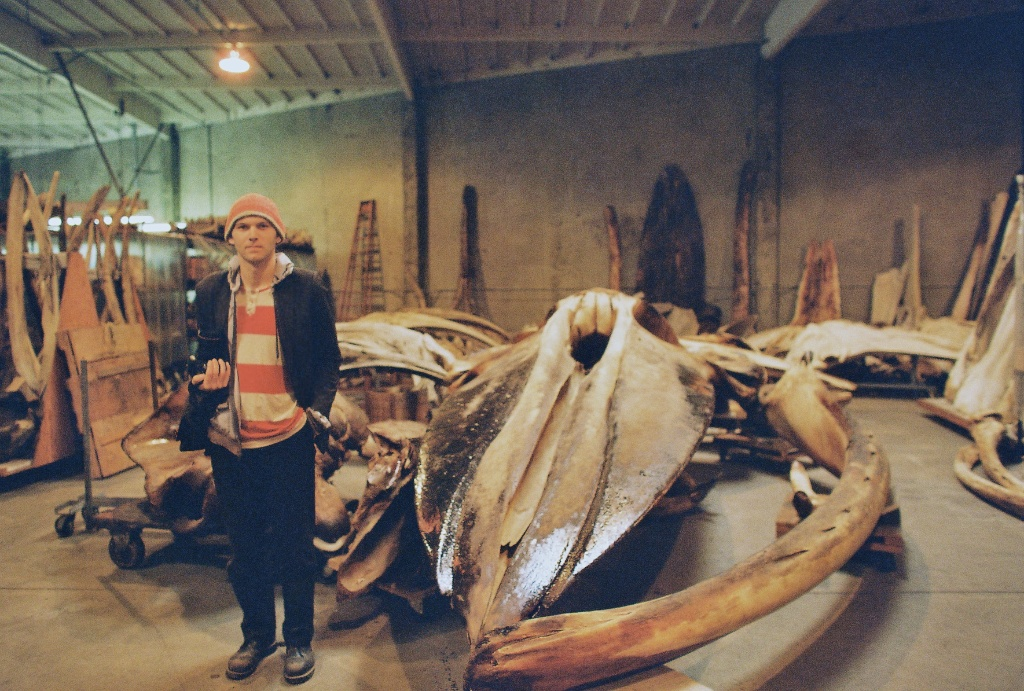 shawn and the blue whale skull