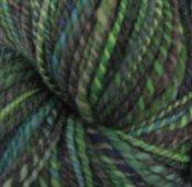 "5.6 oz 2 ply Hand Spun Worsted Yarn 100% Wool Uberknits ""Wannabe"""