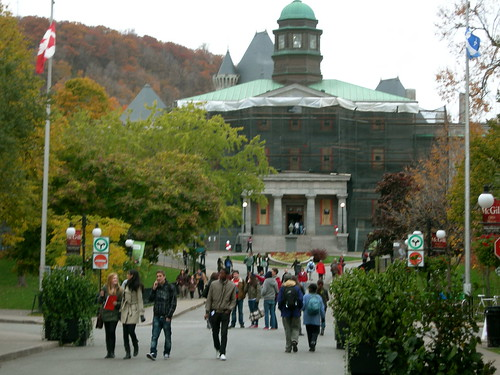 McGill University - Arts Bldg under repair