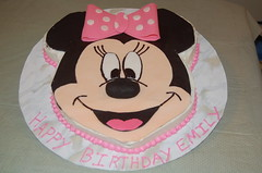 Minnie Mouse Cake by Marla