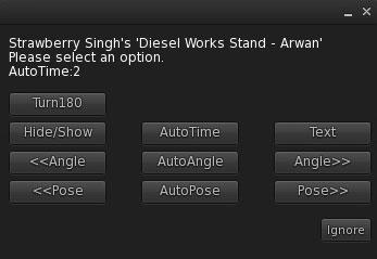 Diesel Works Pose Stand Menu