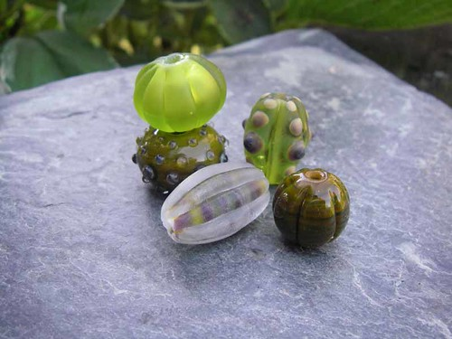 Set of 5 coordinating nature-inspired beads