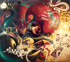 BREAK X GETSET (BREakONE) Tags: black get art portugal festival set de effects graffiti montana break grafiti character tail drop graffity porto mtn colored characters rooster explode 2010 galo barcelos cfs galos breakone gsby debarcelos