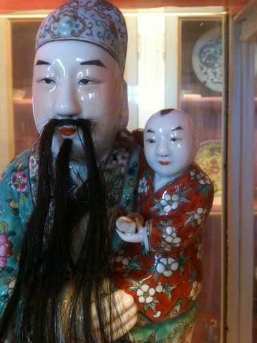 Chinese porcelain in St Francis church museum, Fiesole