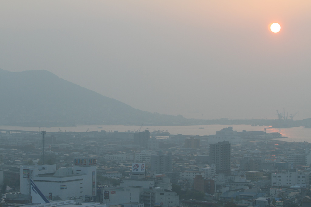 Misted town (Hakodate City)