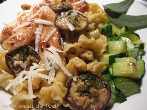 Shiitake Campanelle with Chicken
