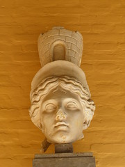 Head of Fortune (reproduction), Italica (Following Hadrian) Tags: cornelius hadrian trajan scipio italica santiponce hispania baetica publius