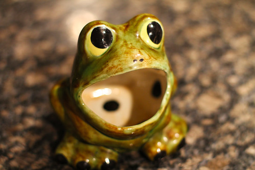 This ceramic frog is one of my favorite possessions.