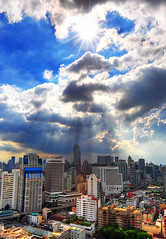 Peaking Sunstar (MikeBehnken) Tags: bangkok hdr sunstar travelphotography cloudsandsun bangkokthailand sunandclouds bangkokhdr bangkokcloudy cloudybangkok bangkokthailandpictures