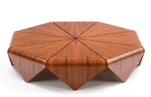 Design Inspiration: Handmade Modern Wood Table by Etel – Petalas