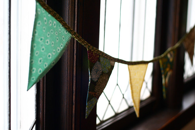 Pennant Banner in the Window