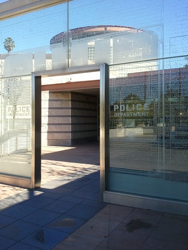 LAPD North Hollywood Station Glass Monument