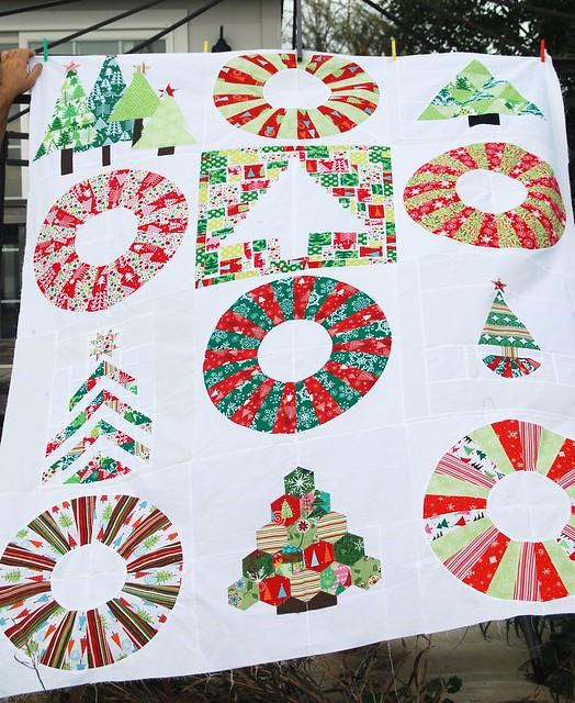 Christmas bee quilt top