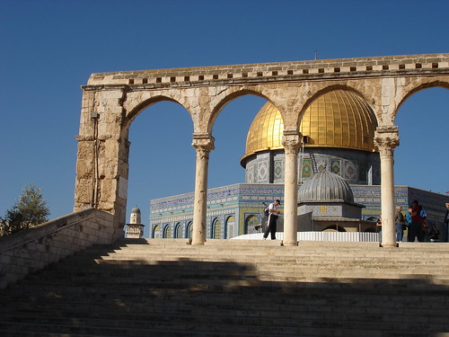 Approaching the Dome of the Rock