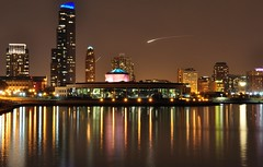 Shedd Aquarium at Night (Seth Oliver Photographic Art) Tags: chicago reflections illinois nikon midwest skyscrapers cityscapes lakemichigan nightshots chicagoatnight pinoy downtownchicago nightscapes sheddaquarium urbanscapes 30secondexposure longexposures chicagoist d90 nightexposures wetreflections moderncities shutterspeedpriority setholiver1 aperturef180 18105mmnikkorlens tripodmountedshot noppslightcropsooc