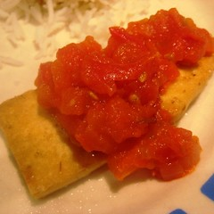 Fried Tofu with Tomato Sauce