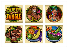 free Queen of the Jungle slot game symbols