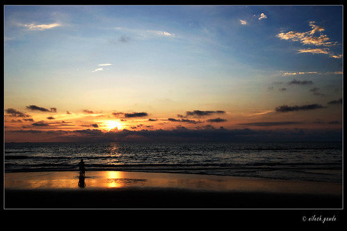 sunset at Tarkarli Beach