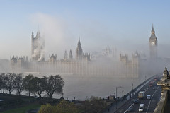 London Fog (Jon Cartwright) Tags: morning winter london water westminster fog thames river nikon parliament bigben explore nikkor frontpage westminsterbridge 2470 d3s absolutegoldenmasterpiece