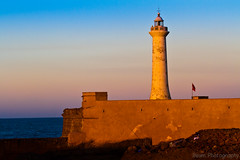 Lighthouse (Beum Gallery) Tags: ocean sunset sea mer lighthouse atlantic morocco maroc phare rabat atlantique coucherdusoleil ocan