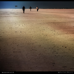 Moonwalk (PetterPhoto) Tags: light moon men beach walking square three nikon desert walk crop nikkor moonwalk 18200 minimalistic squarecrop endless vast 500x500 d300s petterphoto