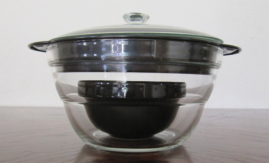 glass pot with glass lid