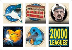 free 20,000 Leagues slot game symbols