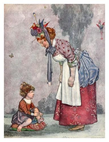 005-Ilustracion del cuento La mujer de la limpieza de Sicilia-Bill the minder 1912-W. Heath Robinson