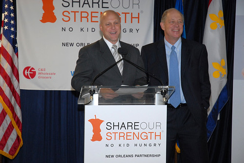 New Orleans Mayor Mitch Landrieu and Share Our Strength Executive Director Billy Shore gave a presentation about their five-year plan to end childhood hunger in New Orleans.