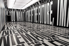 Barbara Kruger (US, 1945) - Past / Present / Future, 2010 (de_buurman) Tags: art netherlands amsterdam typography kunst nederland exhibit exhibition font nikkor tentoonstelling barbarakruger stedelijkmuseumamsterdam typografie takingplace 18200mmf3556gvr allrightsreserved nikond300 debuurman edjansen thetemporarystedelijk