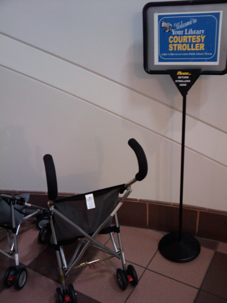 Strollers to borrow!