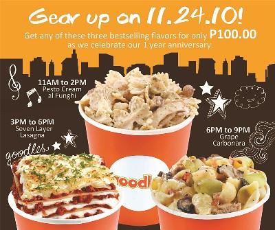 Goodles Anniversary Promo - P100 Noodles