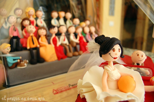 Tarta boda - detalle final -