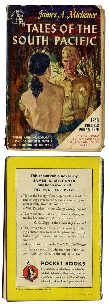 South Pacific paperback_1950_tatteredandlost