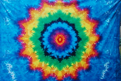 16 Pointed Rainbow Star Sheet/ Tapestry