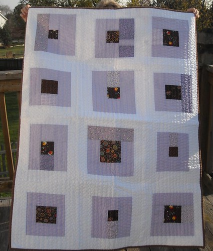 lavender/brown charity quilt