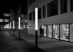 Einsam durch die Nacht (GelsenBuer) Tags: light bw night lights licht loneliness nightshot nacht sw dortmund einsamkeit lichter nachtaufnahme lonesomeness