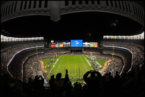 Yankee Stadium football army