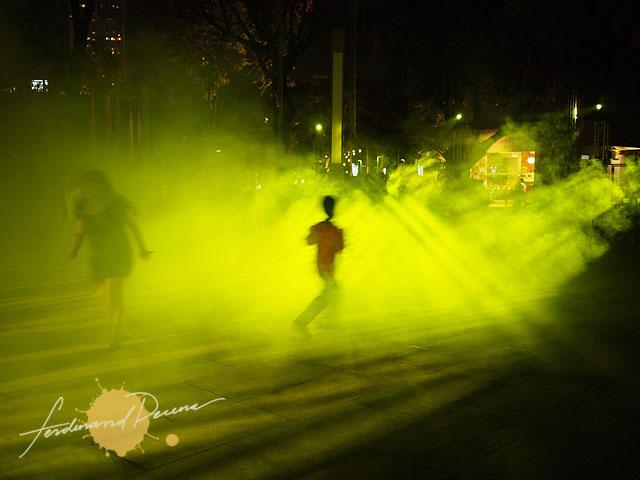 Kids Enjoying the light show and smoke effects