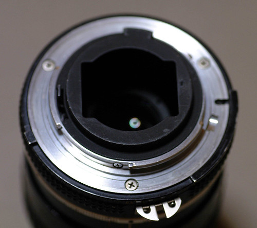 The back of 55mm lens
