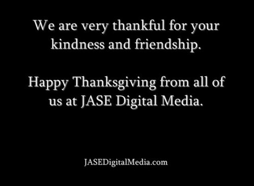 Happy Thanksgiving from the JASE Team