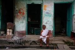 Widow   Kolkata (Rohit Markande) Tags: woman india window indian traditional kolkata attire kumartuli whitesari