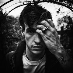 (Samantha West) Tags: portrait man london photographer imissyou onset samanthawest joedahl joeinthesecretgardenonlillieroadwithhistigerringtattooandonehandoverhisbeautifuleyes